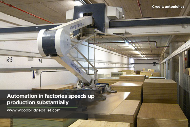 Automation in factories speeds up production substantially