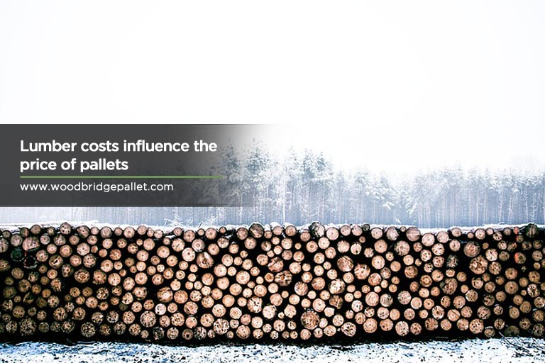 Lumber costs influence the price of pallets