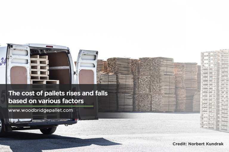 The cost of pallets rises and falls based on various factors